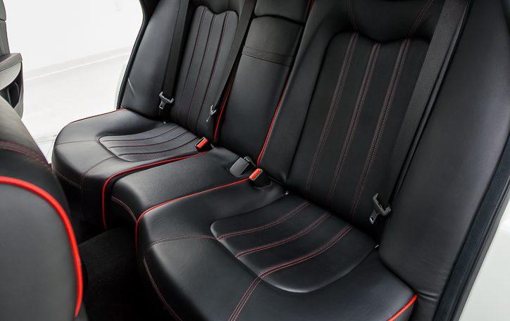 2012 Maserati Quattroporte Sport left rear passenger seat closeup