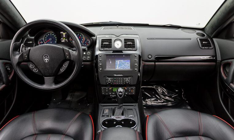 2012 Maserati Quattroporte Sport front cabin cockpit area wideview