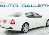 2012 Maserati Quattroporte Sport passenger rear 3/4 picture