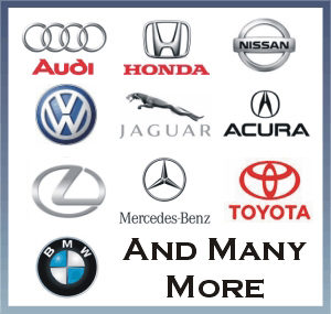 Various imported car symbols like BMW and Toyota